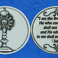 Monstrance Italian Pocket Token Coin - Unique Catholic Gifts