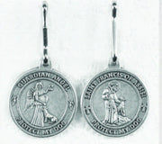 Saint Francis/Guardian Angel - 3/4 Inch Pet Medal