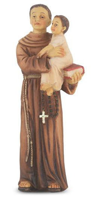 St. Anthony Hand Painted Solid Resin Statue (4