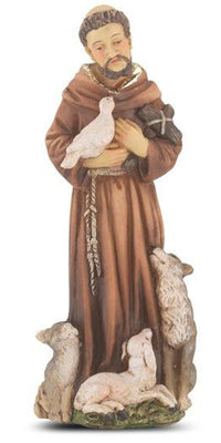 St. Francis of Assisi Hand Painted Solid Resin Statue (4