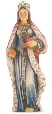 St. Elizabeth of Hungary Hand Painted Solid Resin Statue (4