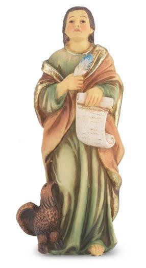 "St. John the Evangelist Hand Painted Solid Resin Statue (4"") - Unique Catholic Gifts"