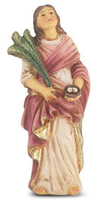 St. Lucy Hand Painted Solid Resin Statue (4