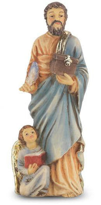 St. Matthew Hand Painted Solid Resin Statue (4