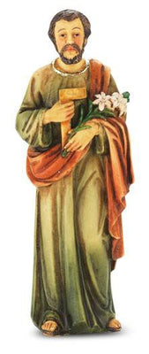 Saint Joseph the Worker Statue hand painted, solid resin (4