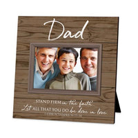 """Dad"" Picture Frame (holds 6 x 4"" photo) - Unique Catholic Gifts"