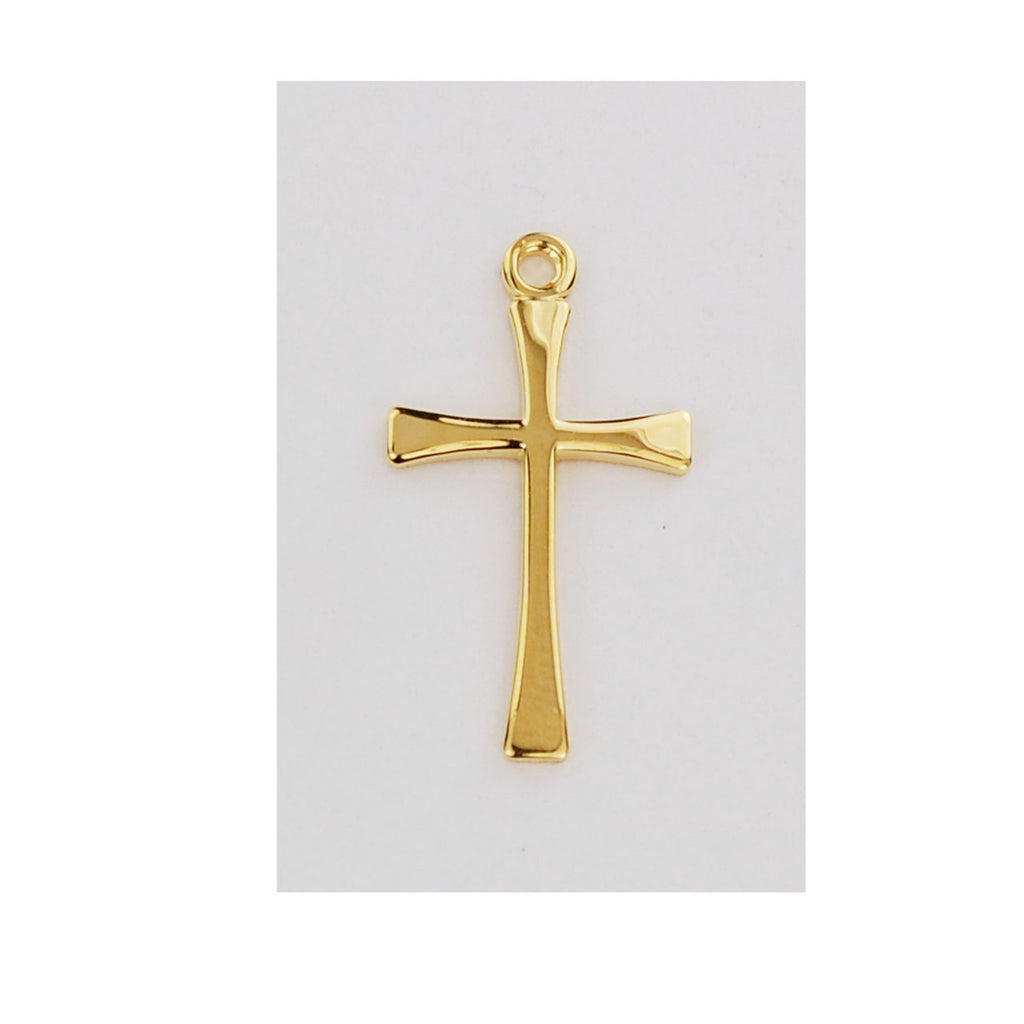 "18k Gold over Sterling Silver Cross (11/16"")"