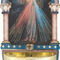"Divine Mercy Multi- Dimensional Holy Water Font (5"") - Unique Catholic Gifts"