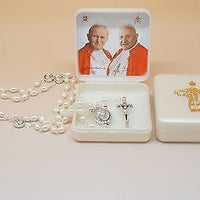 Saint John Paul II & Saint John XXIII Rosary - Unique Catholic Gifts