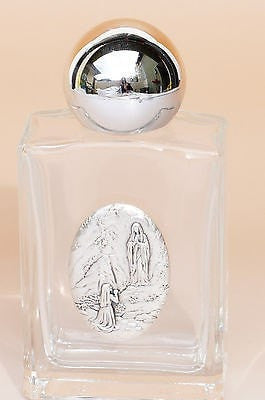 Our Lady of Lourdes Holy Water Glass Bottle (3.35