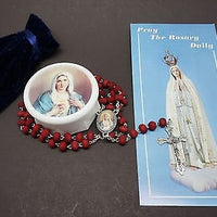 Immaculate Heart of Mary Rose Scented Rosary and Prayer - Unique Catholic Gifts