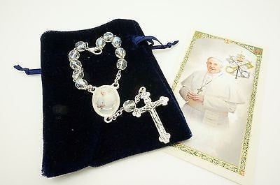 Pope Francis Rosary for the rear view mirror - Unique Catholic Gifts