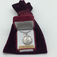 Sterling Silver US Coast Guard and Saint Michael Medal - Unique Catholic Gifts