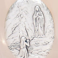 "Our Lady of Lourdes Holy Water Glass Bottle (3.35""x 1.6"") - Unique Catholic Gifts"