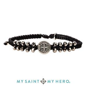 Stairway to Heaven Crystal Benedictine Bracelet (Silver Black and Silver)