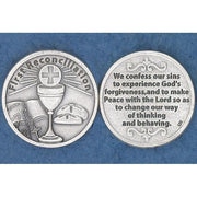 First Reconciliation Italian Pocket Token Coin - Unique Catholic Gifts