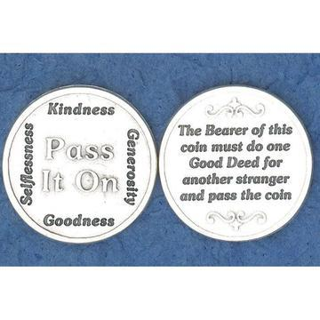 Pass It On Italian Pocket Token Coin - Unique Catholic Gifts
