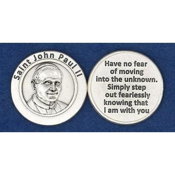 St. John Paul II Italian Pocket Token Coin - Unique Catholic Gifts