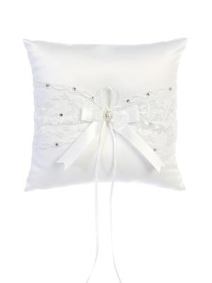 Ring Pillow with Lace and Sequins  (Whitey) 7