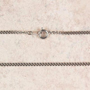 "Medium Rhodium Chain (24"")"