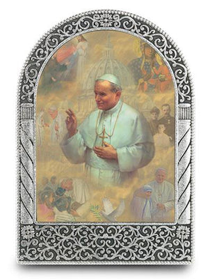 St. Pope Paul II Easel Standing Plaque