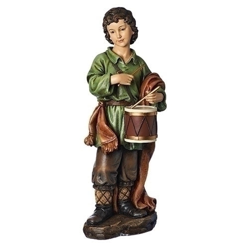 "39""Scale Drummer Boy Color Finish #35020 Nativity - Unique Catholic Gifts"