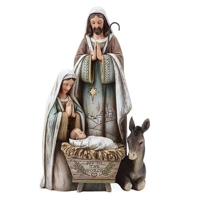 Holy Family with Donkey Nativity Decoration. 10. 1/2