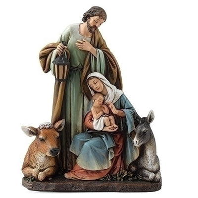 Holy Family with Animals Statue 7 1/2