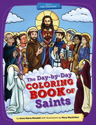 he Day by Day Coloring Book of Saints: Volume 2 January through June by Mary MacArthur, Anna Maria Mendell - Unique Catholic Gifts