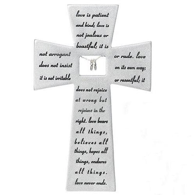 Wedding Anniversary Wall Cross with Silver Rings (7