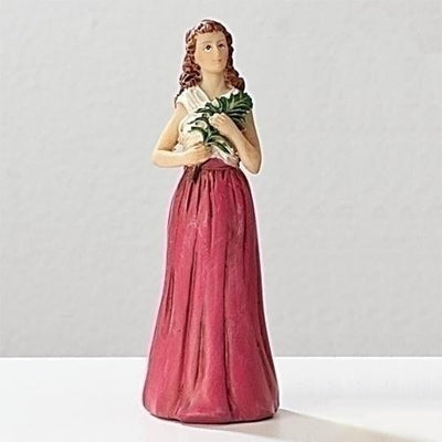 St Agatha Figurine. Patron saint of Breast Cancer Patients (3 3/4