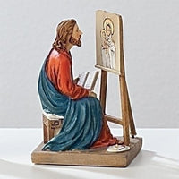 "St Luke Figurine Statue (3 1/2"") Patron Saint of Artists / Painters and Doctors - Unique Catholic Gifts"