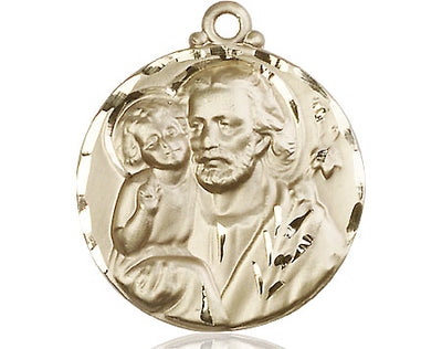 14kt Gold St Joseph Medal - Unique Catholic Gifts