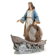 "Jesus the Fisherman Statue (11 1/4"" x 9 1/4"") - Jesus Statue"