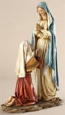 Our Lady of Lourdes with Bernadette Statue (10 1/2