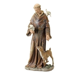"36.5""H St Francis Figure Renaissance Collection - Unique Catholic Gifts"