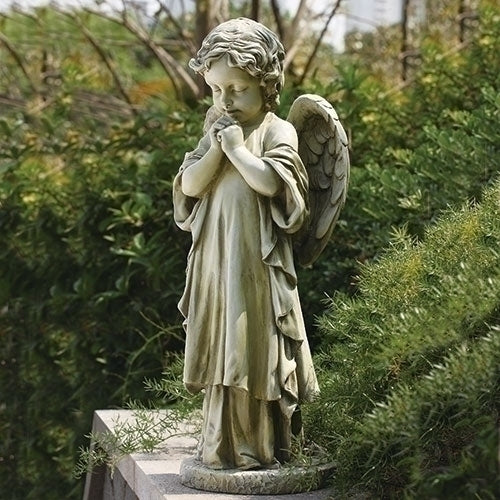 "26""H Praying Angel Garden Statue - Unique Catholic Gifts"