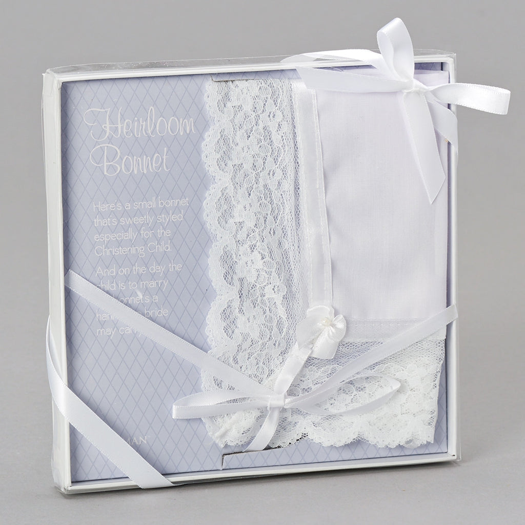 Baptism Bonnet and  Wedding Handkerchief Heirloom