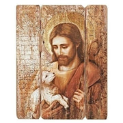 "The Good Shepard Rustic Picture Panel (26 x 20"") - Unique Catholic Gifts"