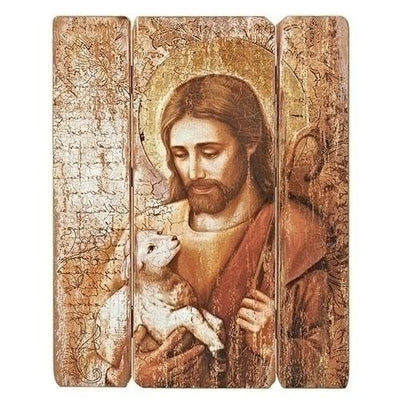 The Good Shepard Rustic Picture Panel (26 x 20