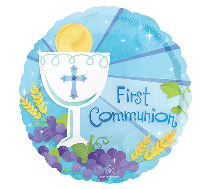 "18""Blue First Communion Balloon"