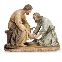 "Jesus washing Feet Statue (6 1/2"" x 8 1/4"") - Jesus statue - Unique Catholic Gifts"