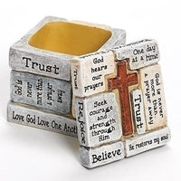 "Inspired Christian Words Trinket/ Prayer Box  (2 1/4"") - Unique Catholic Gifts"