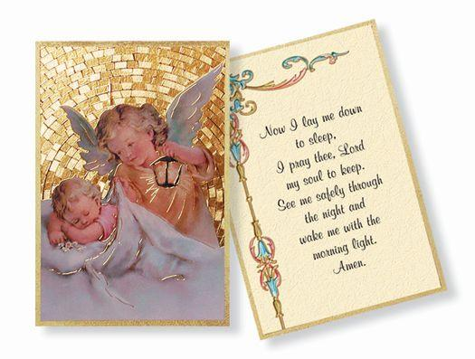 "Guardian Angel Gold Foil Mosaic Plaque (4x6"") - Unique Catholic Gifts"
