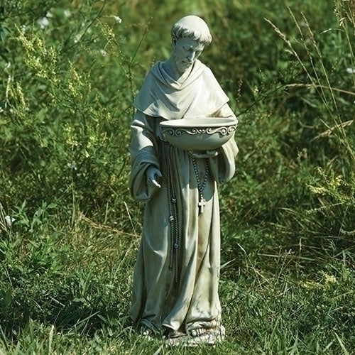 "Solar Powered St. Francis Outdoor Statue 20"" - Unique Catholic Gifts"