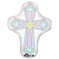 "28"" Pastel Cross Shaped Balloon - Unique Catholic Gifts"