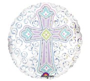 "18"" Round Cross Balloon - Unique Catholic Gifts"