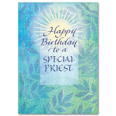 Happy Birthday to a Special Priest Birthday Card for Priest - Unique Catholic Gifts
