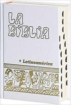 Biblia Latinoamérica, Bolsillo, Blanca (Con Indices) - Unique Catholic Gifts
