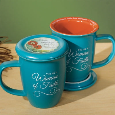 Woman of Faith Mug & Coaster Set - Unique Catholic Gifts